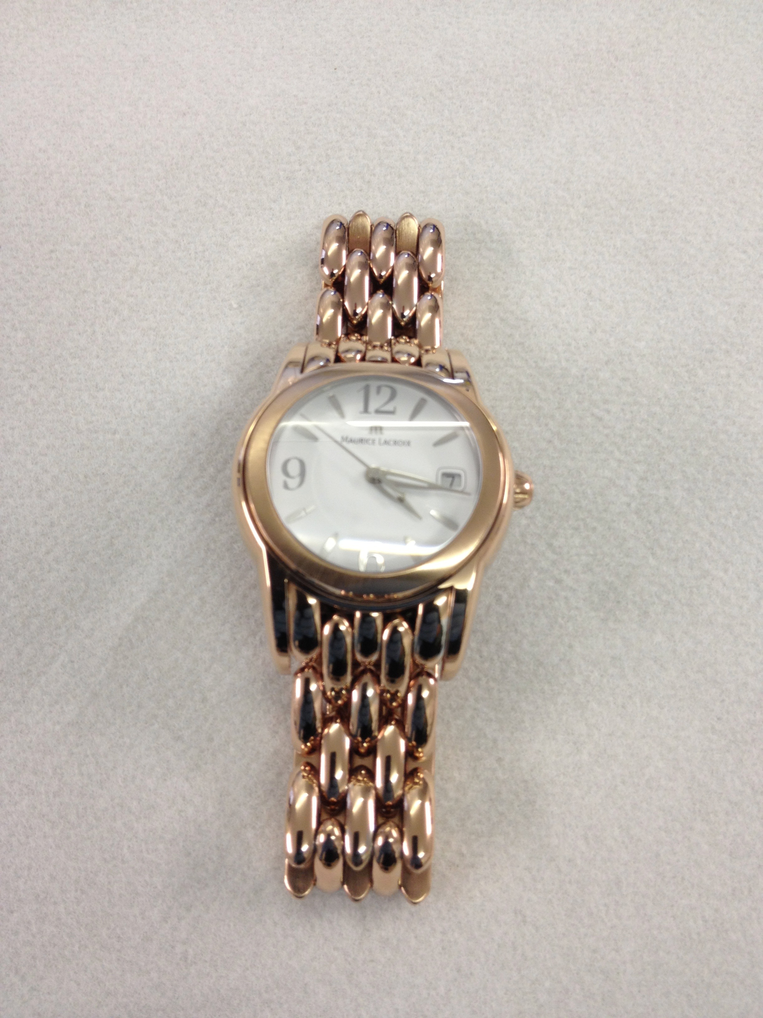 rose gold electroplated watch