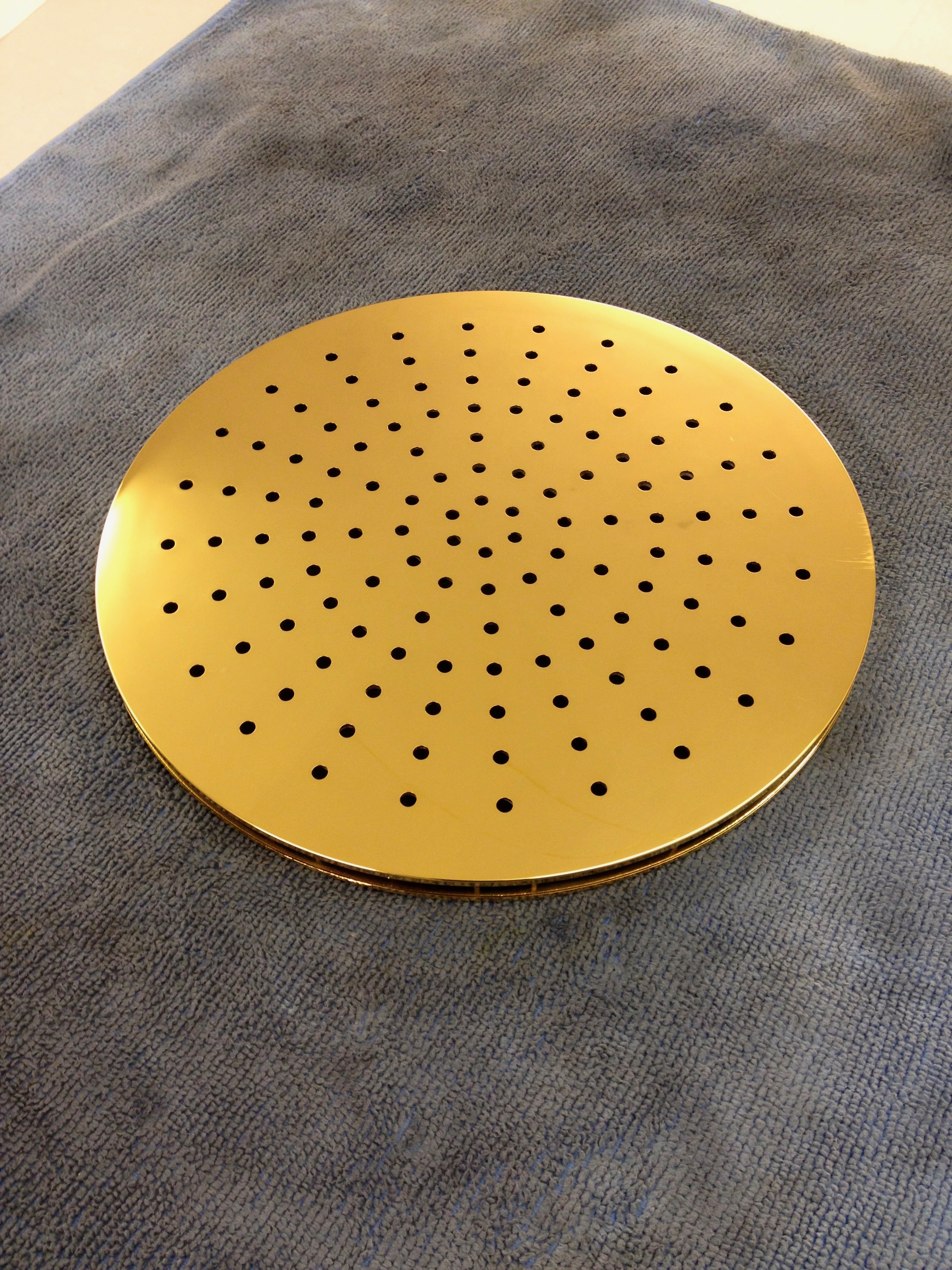 24k gold plated shower head