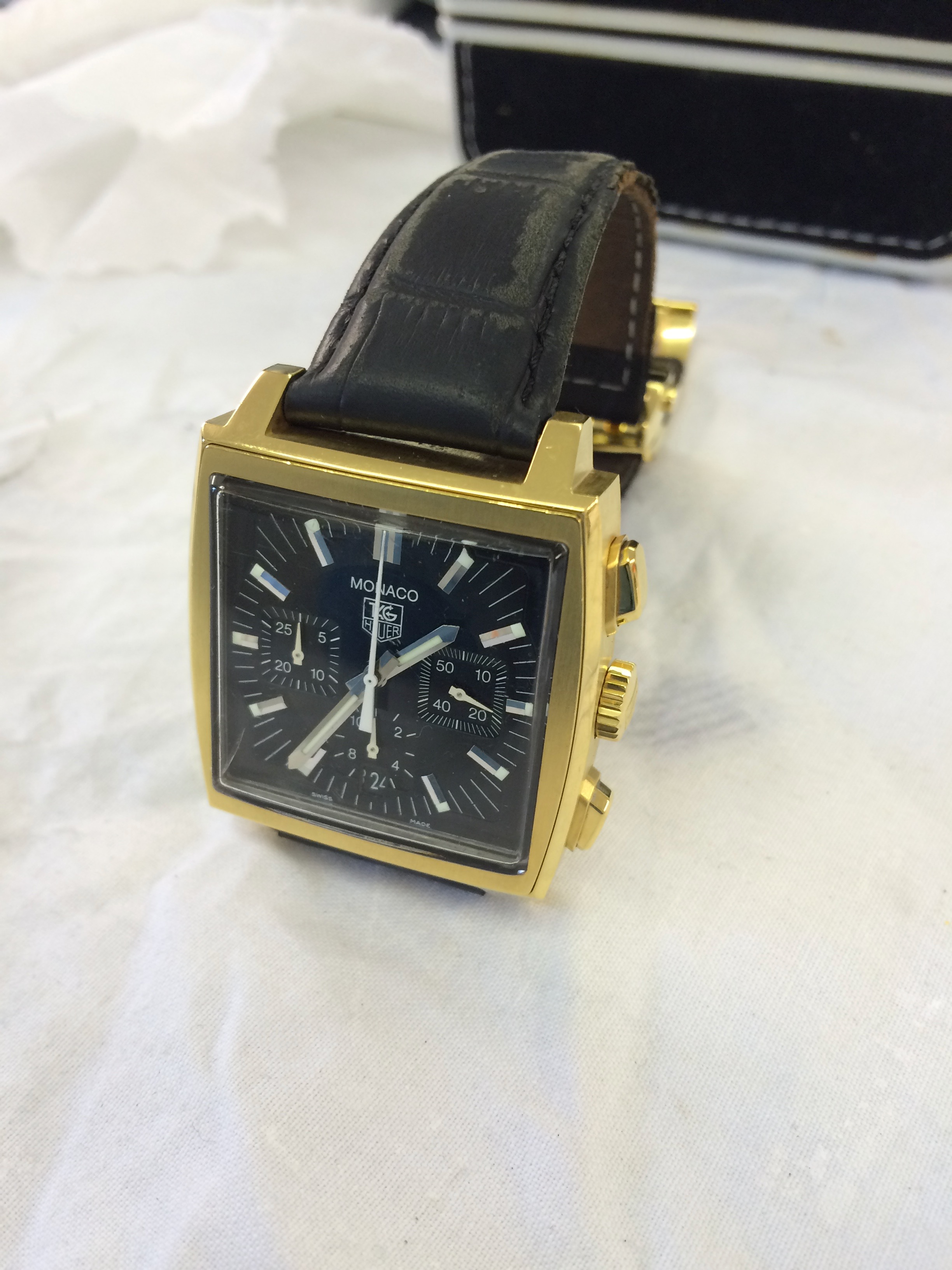 gold plating of a TAG Heuer watch