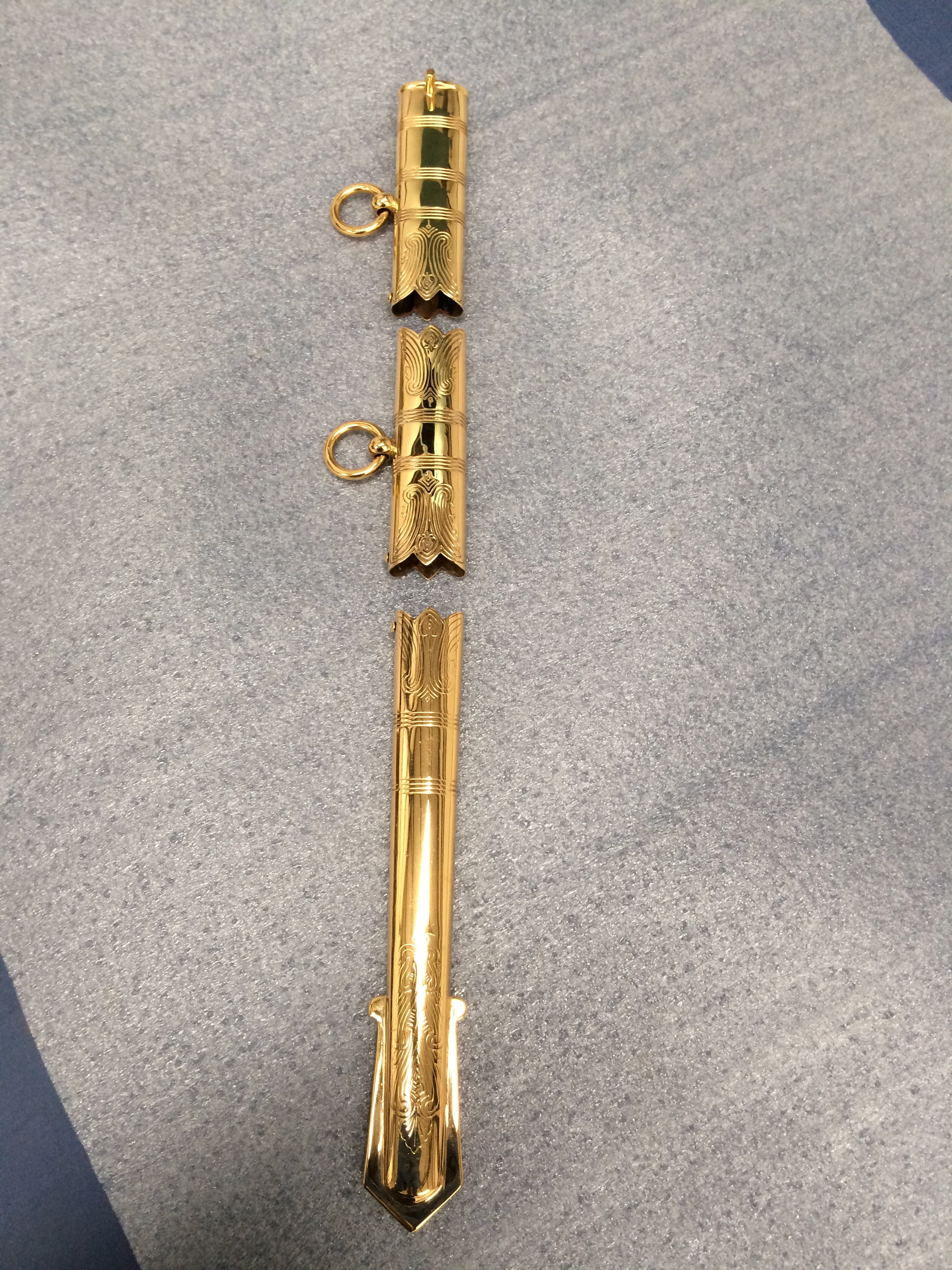 gold plated scabbard