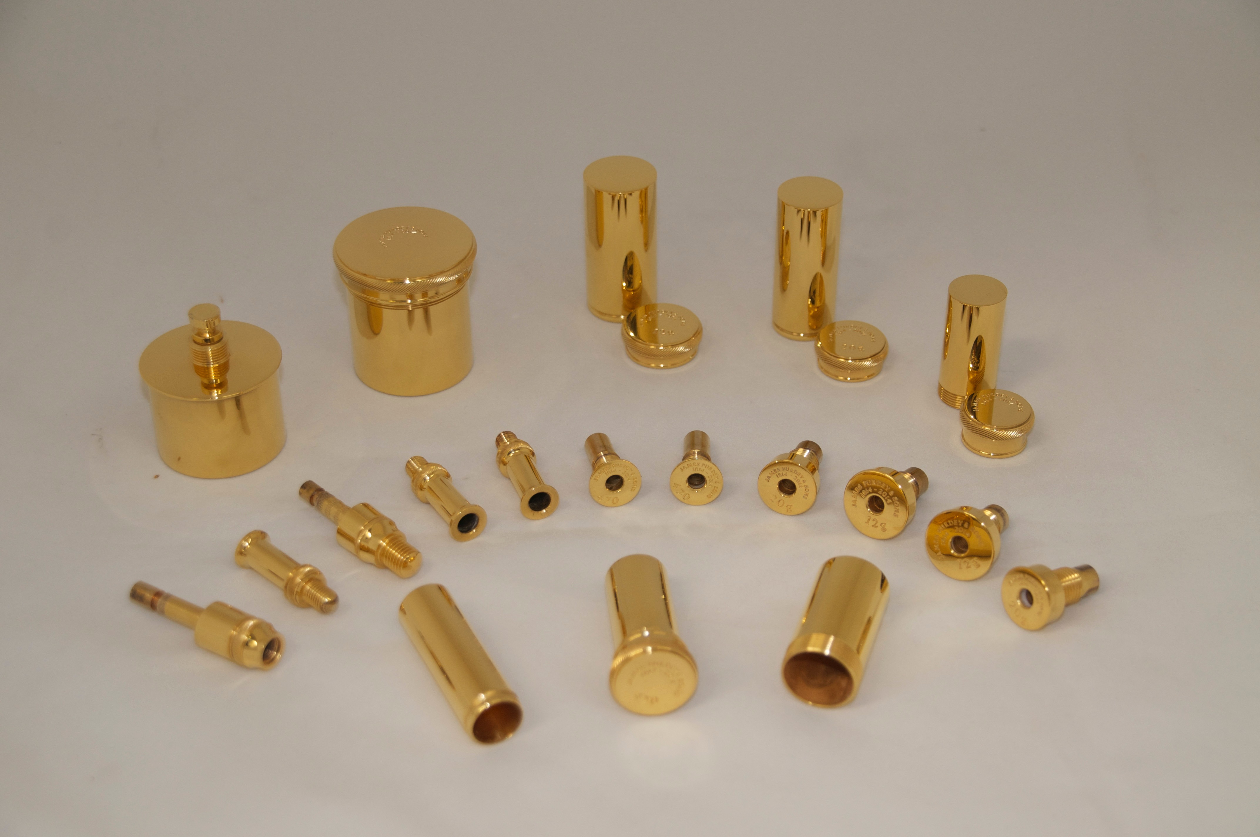 gold plated Purdy gun set