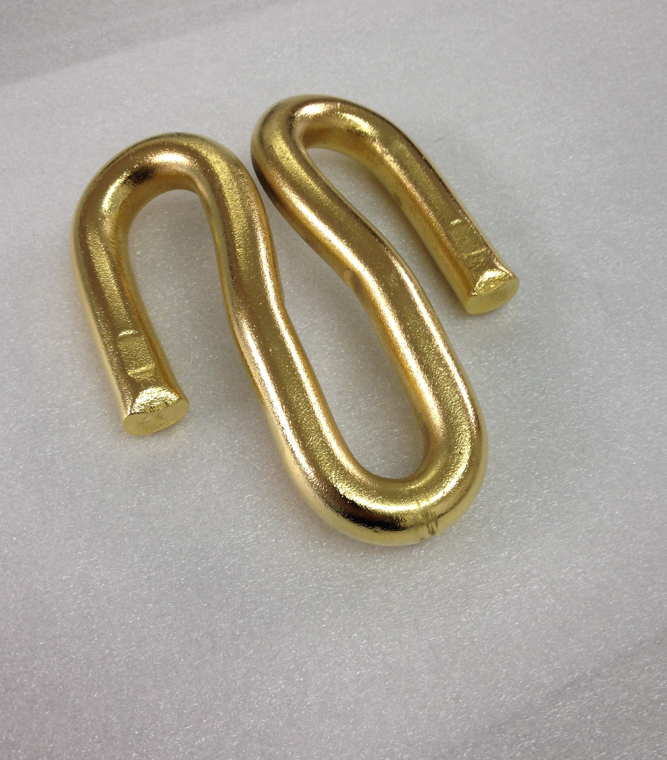 24k gold plated railway clip
