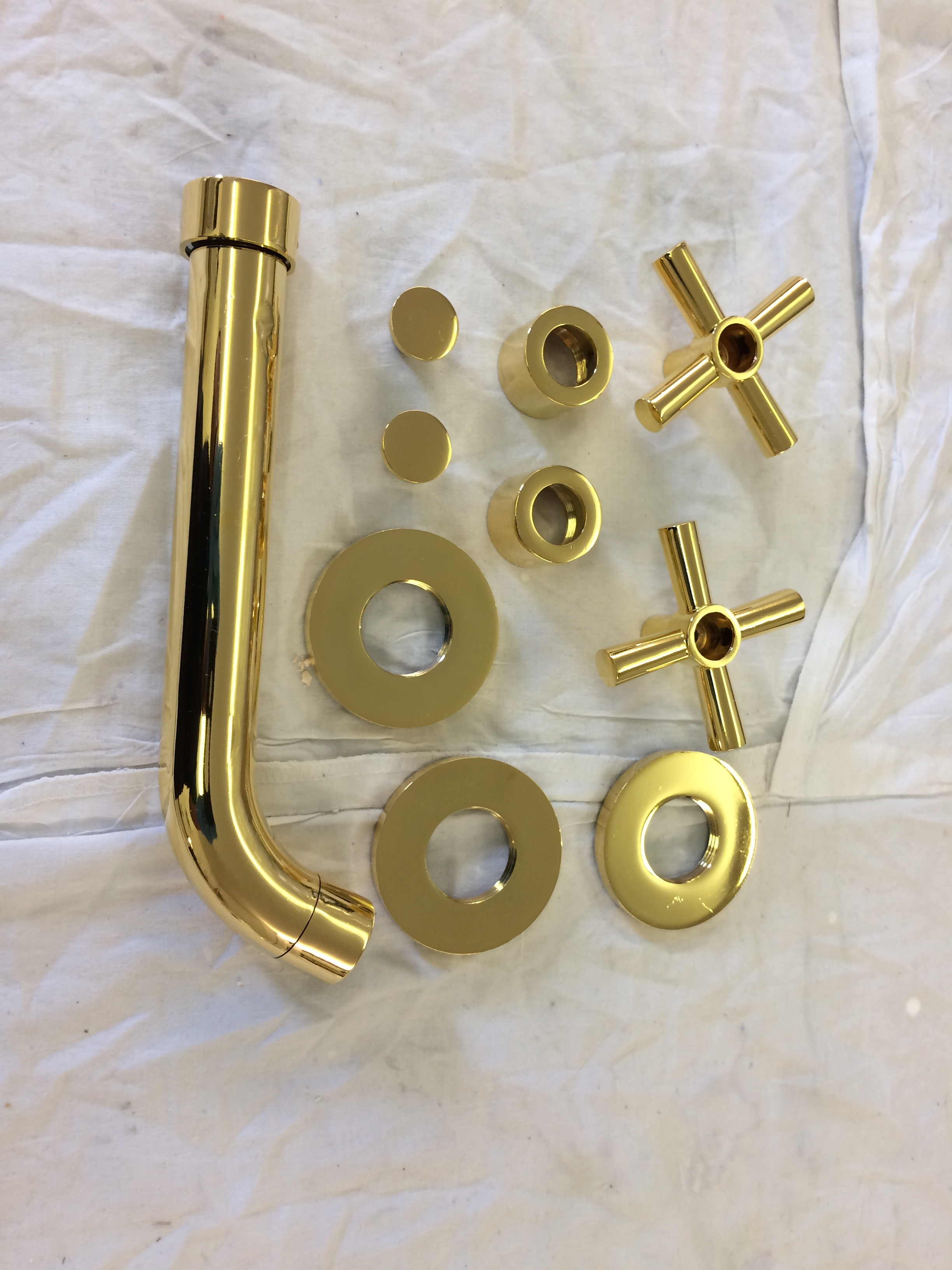 nickle and gold plating of taps