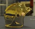 24k gold plating on a helmet