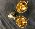 silver and gold plating of goblets