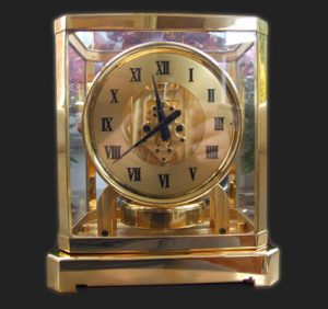 24k gold plating of a carriage clock