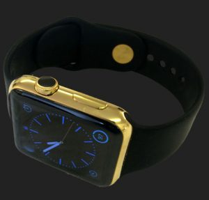 gold electroplating of an Apple Watch