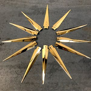 24k gold plating refurbishment of a sun clock