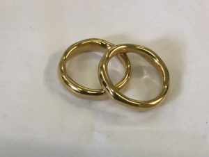 24k gold plating signet rings
