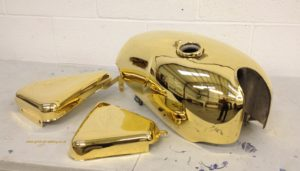 gold plated motorcycle tank