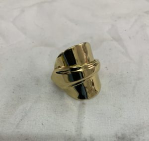 gold plated household item becomes a ring!