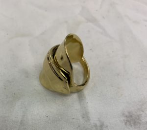 gold plating an old teaspoon made into a ring