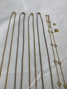 Gold Plating and Rose Gold Plating of Necklaces for Jewellery companies