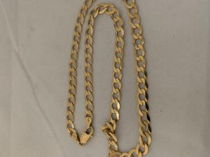24k gold plating a silver curb chain